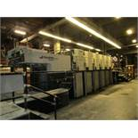 "1999 Akiyama Jprint 640 6 Over 6 40"" Offset Press, Remote Ink & Register, Baldwin Auto Blanket Wash,"
