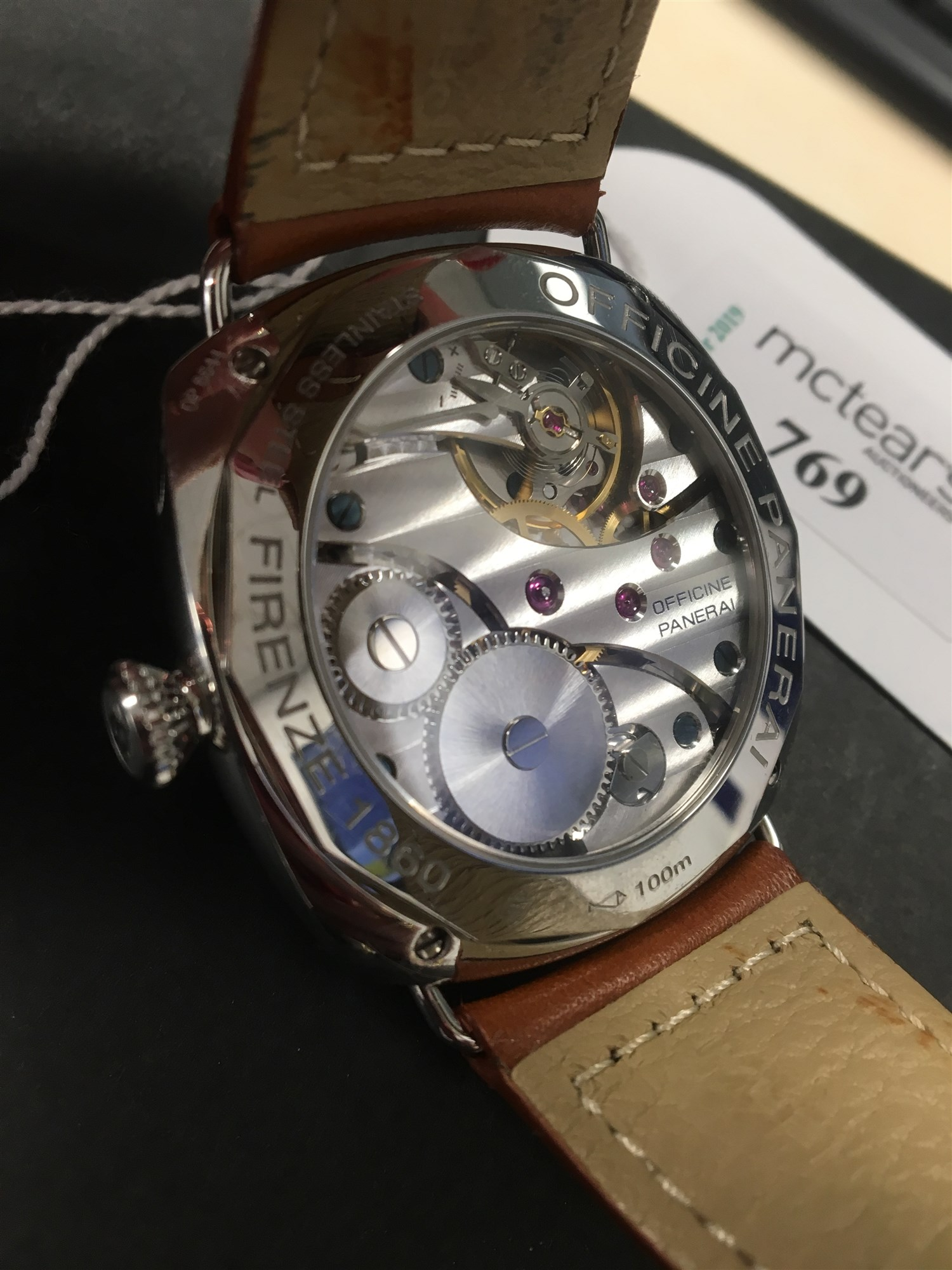 Lot 759 - A GENTLEMAN'S PANERAI RADIOMIR WATCH