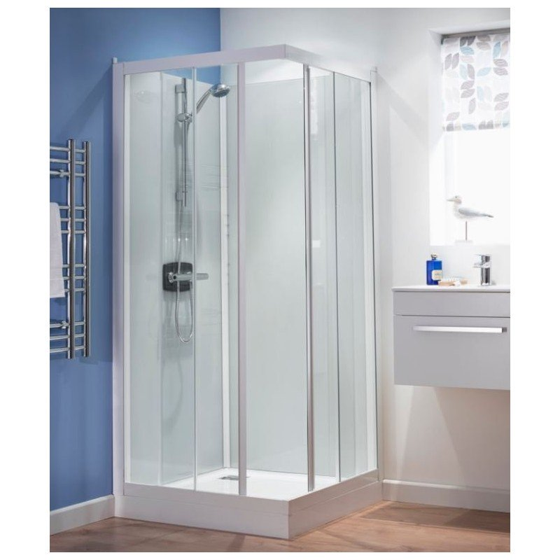 Lot 4 - Kineprime 900 x 900 shower enclosure, new.