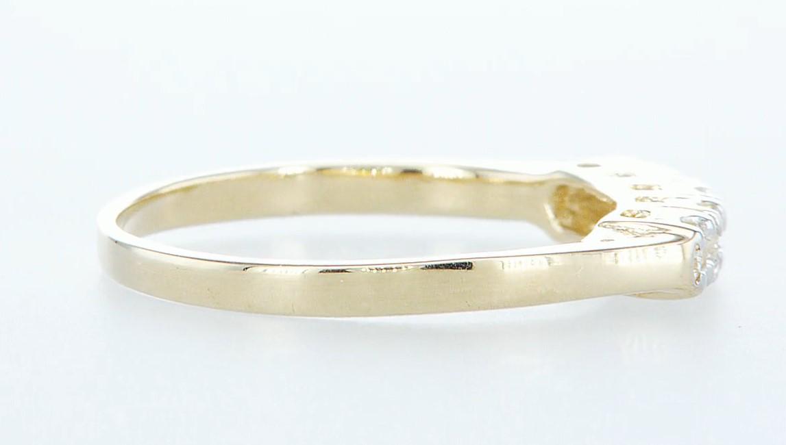 14 kt. Yellow gold - Ring Diamond-0.15CTW - Image 4 of 5