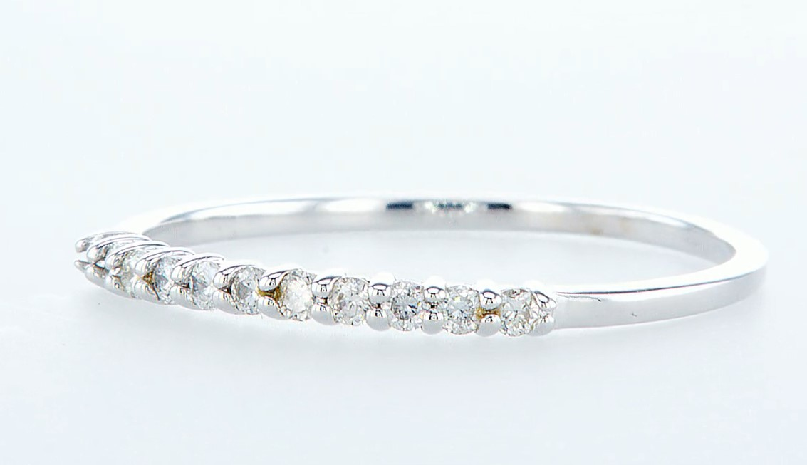 14 kt. White gold - Ring Diamond-0.22CTW - Image 2 of 3