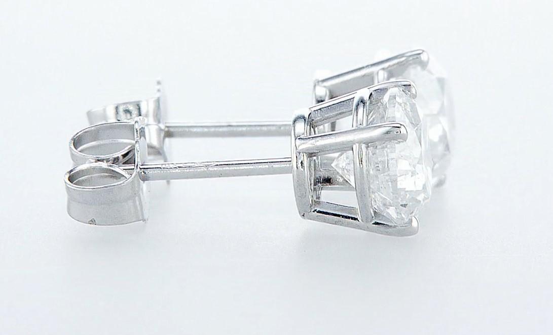 14 kt. White gold - Earrings - 2.00 ct Diamond - Diamonds - Image 6 of 6