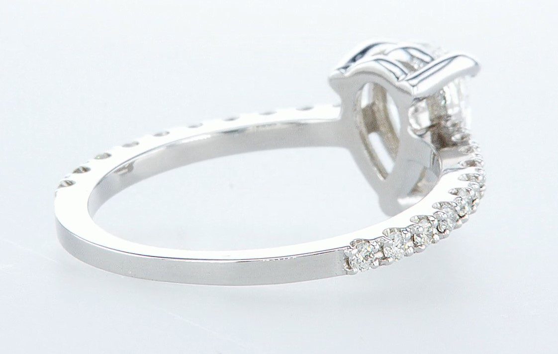 14 kt. White gold - Ring - 0.97 ct Diamond - Diamonds - Image 5 of 6