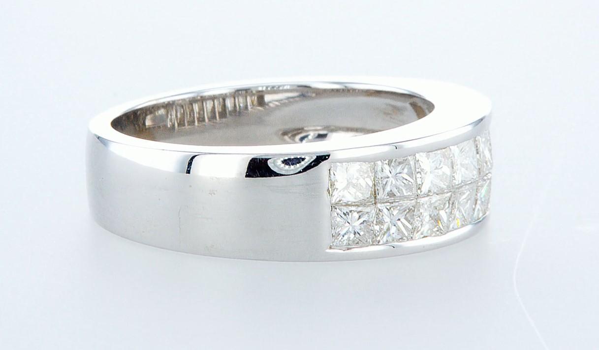 14 kt. White gold - Ring - 1.28 ct Diamond - Diamonds - Image 5 of 6