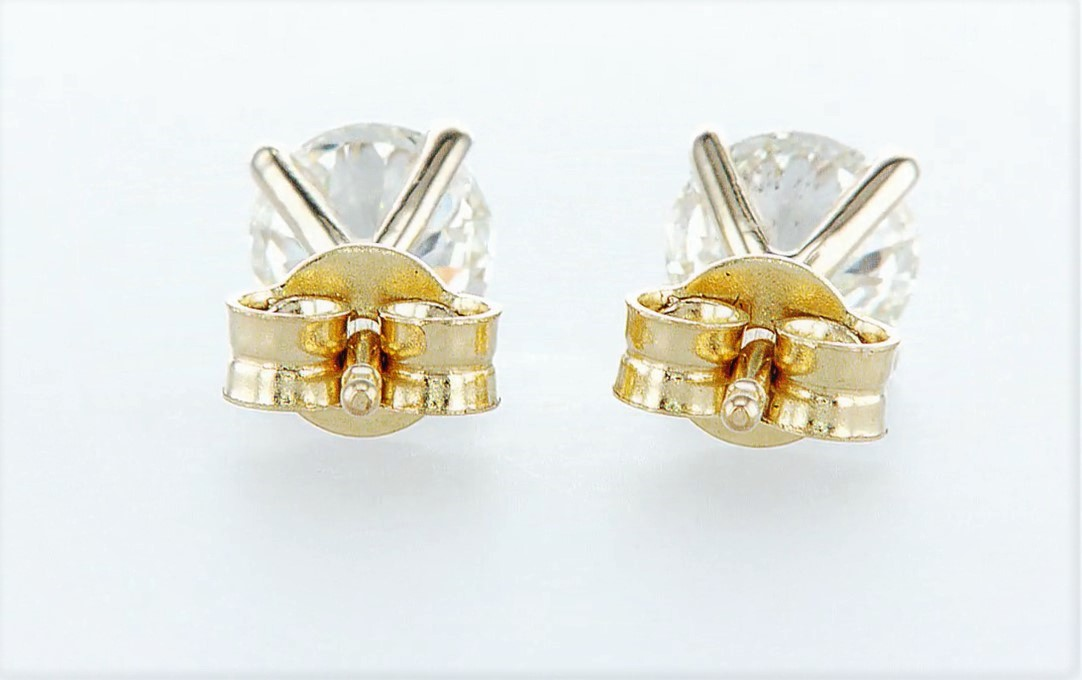 14 kt. Yellow gold - Earrings - 1.40 ct Diamond - Diamonds - Image 3 of 5