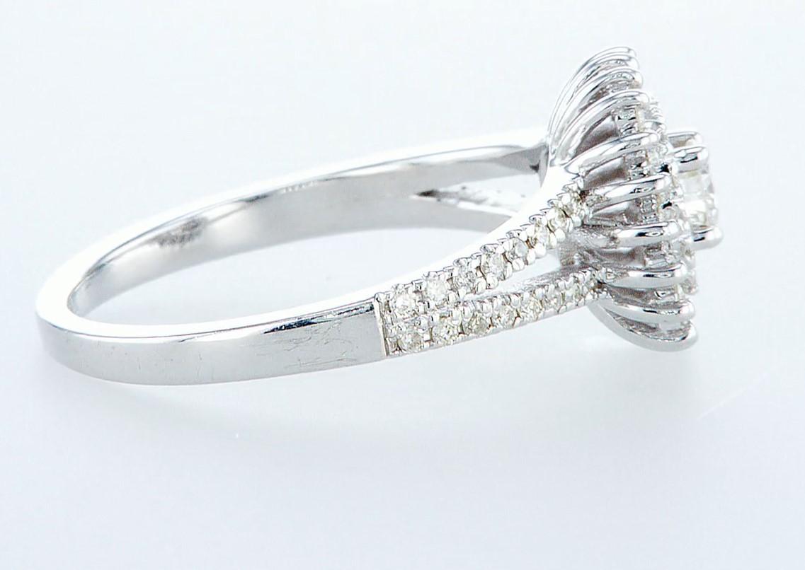 14 kt. White gold - Ring Diamond-0.71CTW - Image 6 of 6