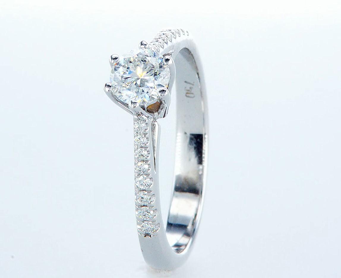 18 kt. White gold - Ring - 0.62 ct Diamond - Diamonds - Image 3 of 6