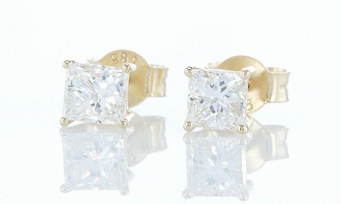 14 kt. Yellow gold - Earrings - 0.85 ct Diamond - Diamonds - Image 5 of 6