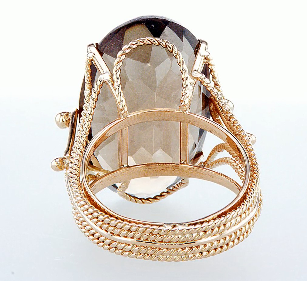 14 kt. Rose gold - Ring Diamond-26.80CTW - Image 5 of 6