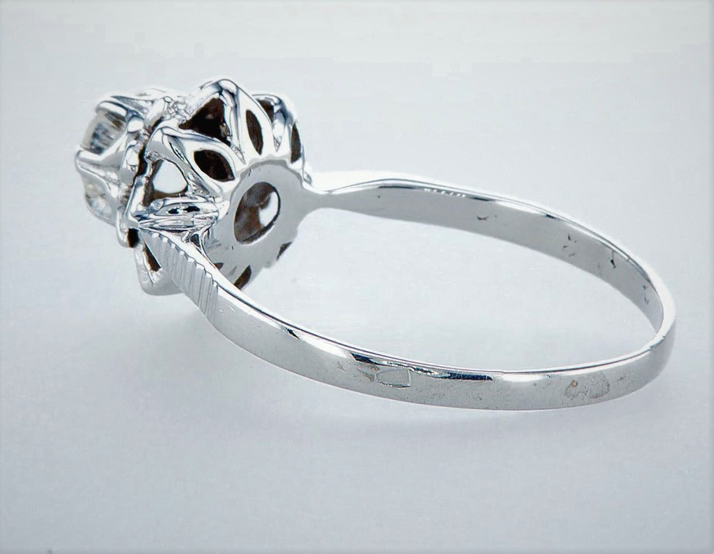 14 kt. White gold - Ring Diamond-0.45CTW - Image 3 of 5