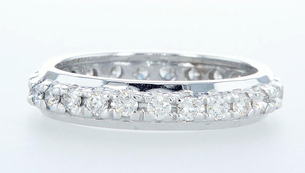 14 kt. White gold -Eternity Ring Diamond-1.00CTW - Image 4 of 4