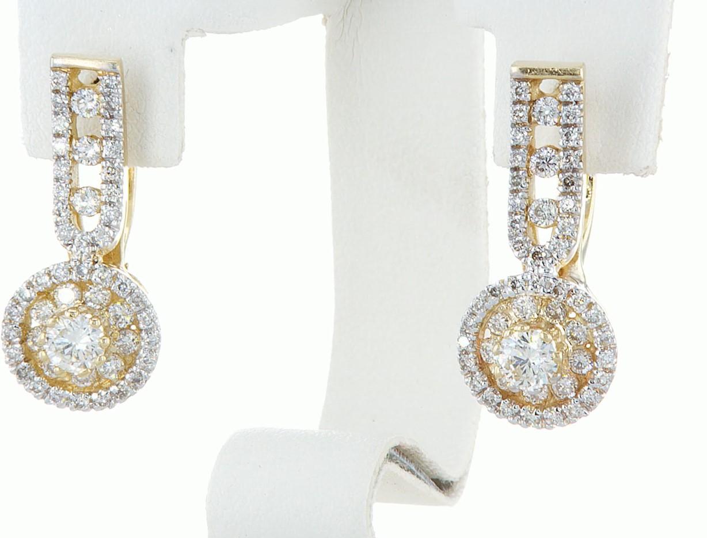 14 kt. White gold - Earrings - 1.46 ct Diamond - Diamonds - Image 4 of 6