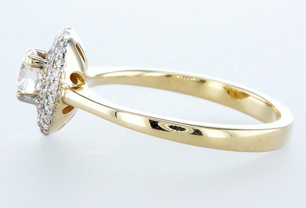 14 kt. Yellow gold - Ring - 0.62 ct Diamond - Diamonds - Image 4 of 6