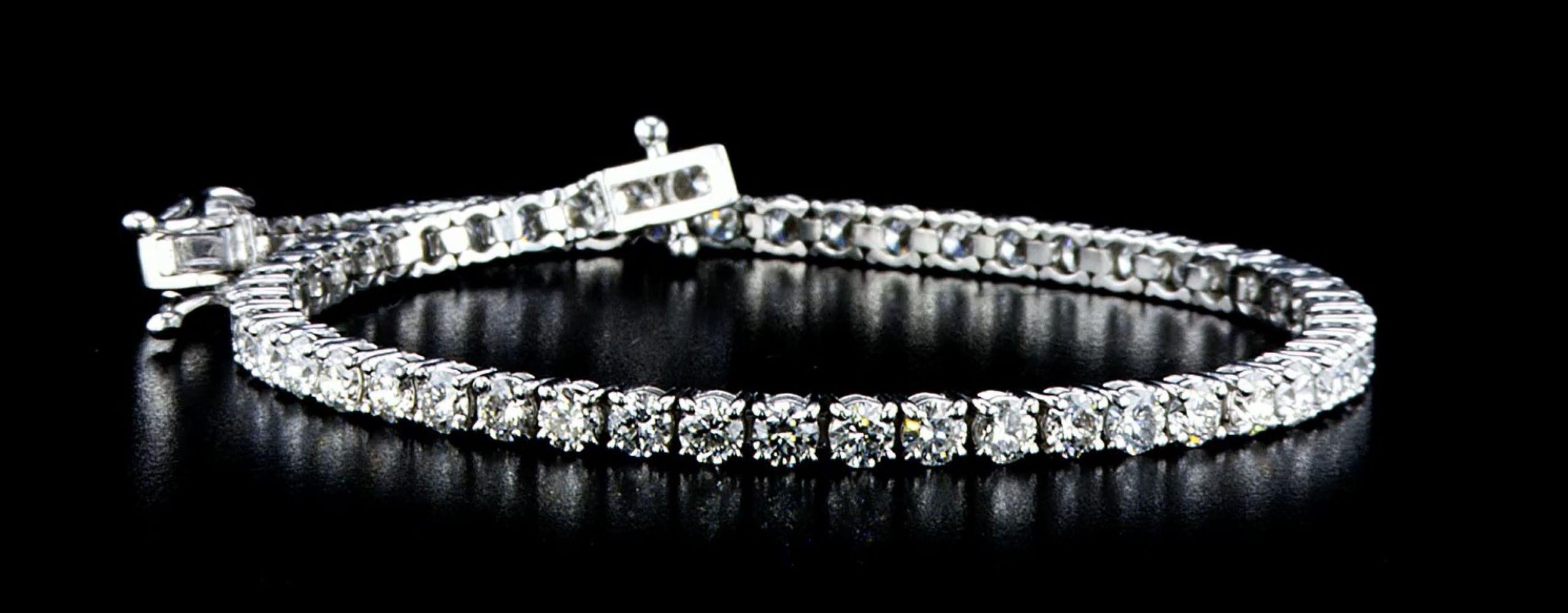 14 kt. White gold - Bracelet - 3.75 ct Diamond