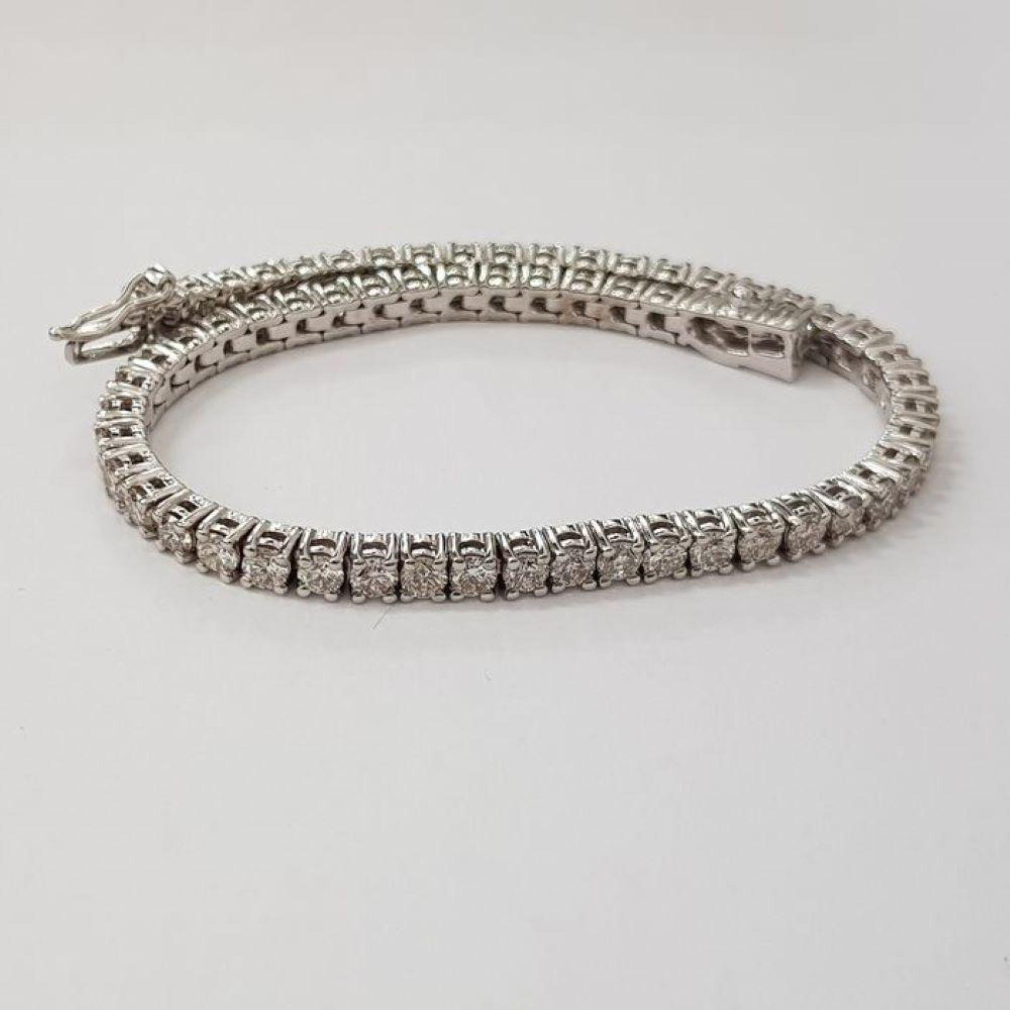 14 kt. White gold - Bracelet Diamond-1.68CTW