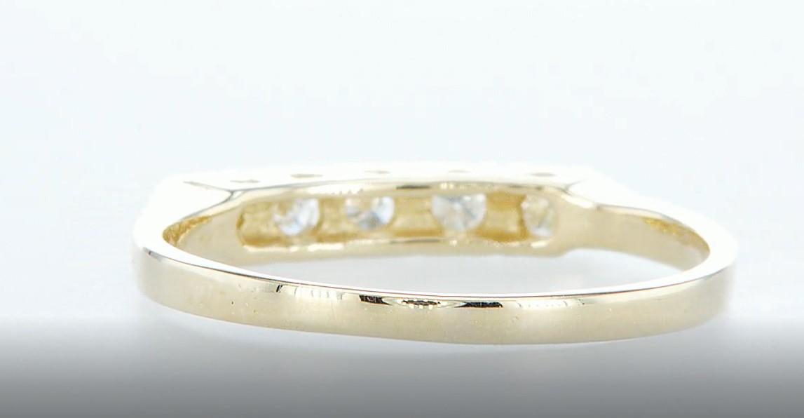 14 kt. Yellow gold - Ring Diamond-0.15CTW - Image 5 of 5