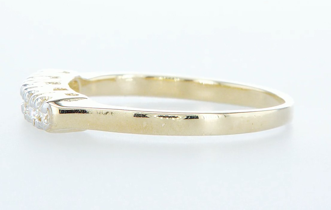 14 kt. Yellow gold - Ring Diamond-0.15CTW - Image 3 of 5