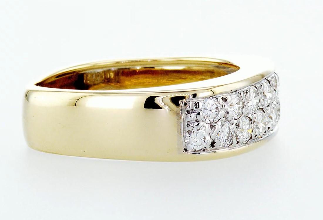 14 kt. White&Yellow gold - Ring Diamond-0.84CTW - Image 6 of 6