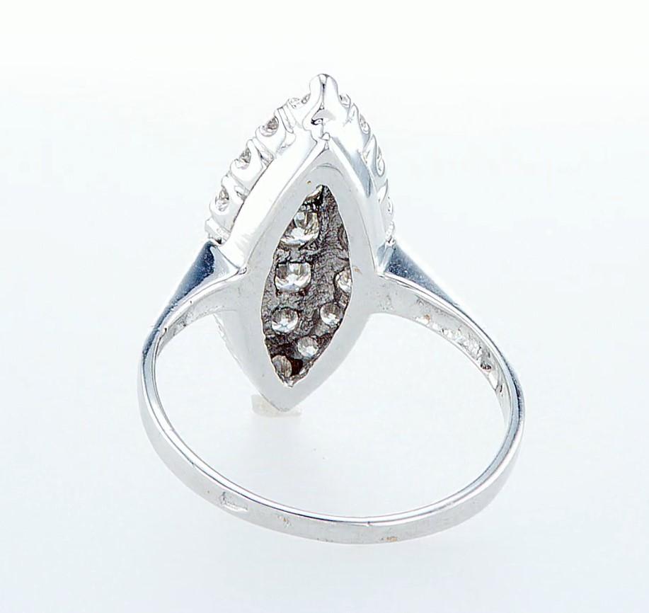 14 kt. White gold - Ring - 0.96 ct Diamond - Diamonds - Image 5 of 6