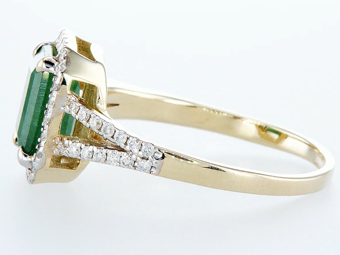 14 kt. White gold, Yellow gold - Ring - 2.01 ct Emerald - Diamonds - Image 4 of 7