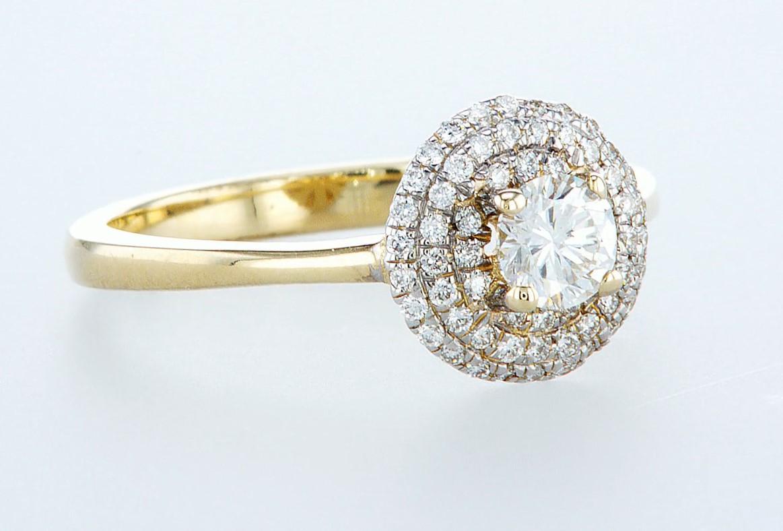 14 kt. Yellow gold - Ring - 0.62 ct Diamond - Diamonds - Image 6 of 6