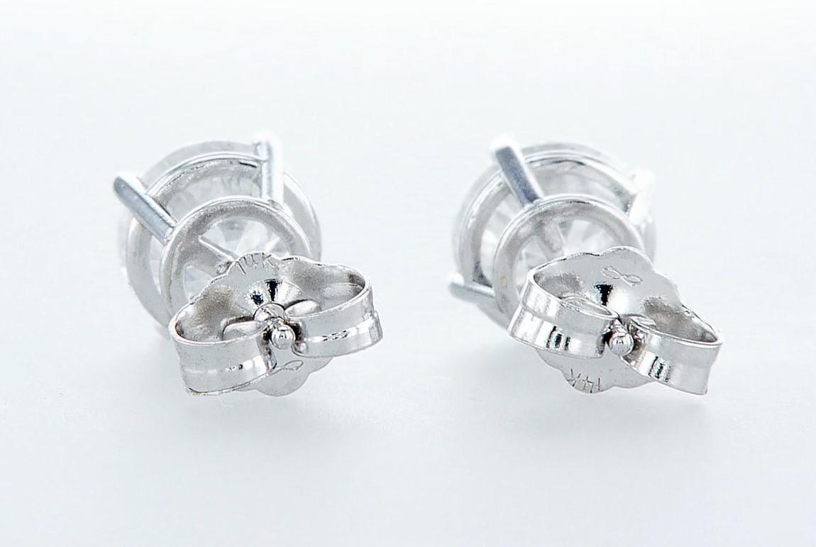 14 kt. White gold - Earrings - 2.00 ct Diamond - Diamonds - Image 5 of 6