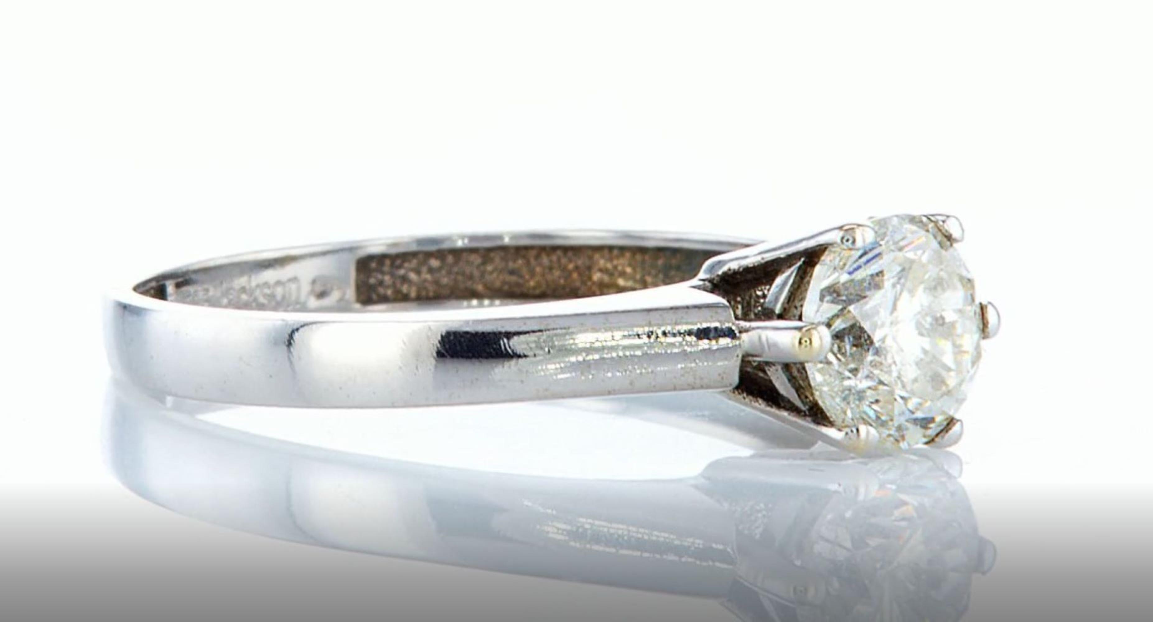14K White gold ring 1.05CTW - Image 5 of 7