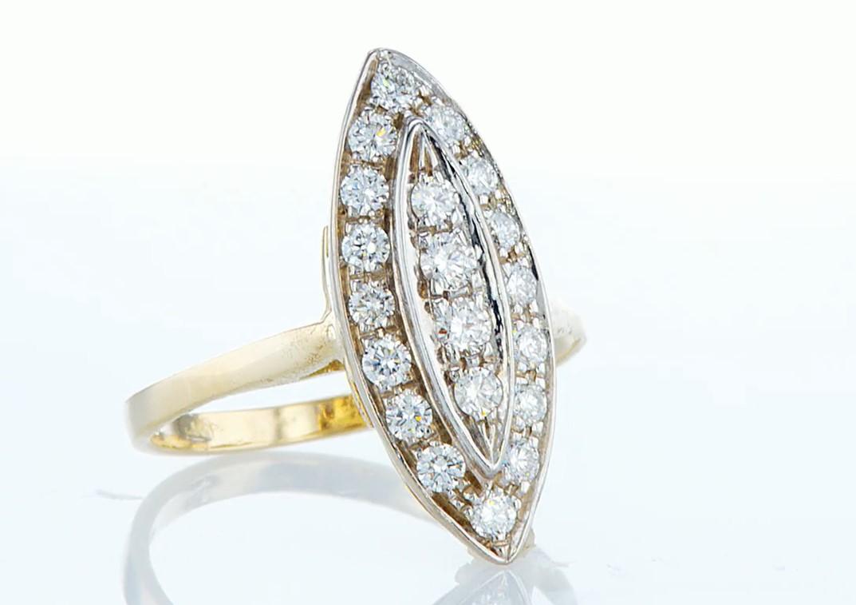14 kt. Yellow gold - Ring - 0.46 ct Diamond - Diamonds - Image 7 of 7