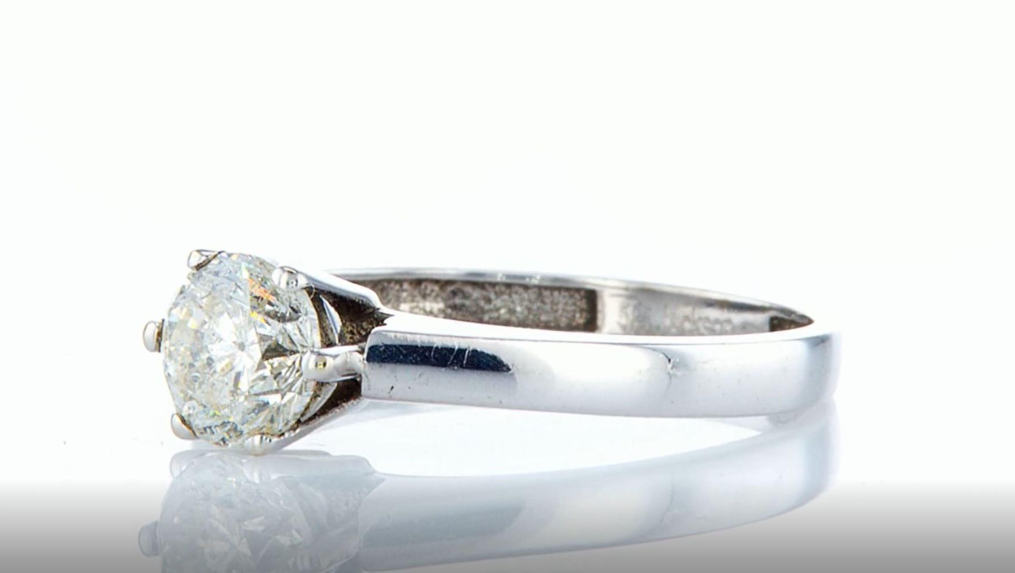 14K White gold ring 1.05CTW - Image 2 of 7