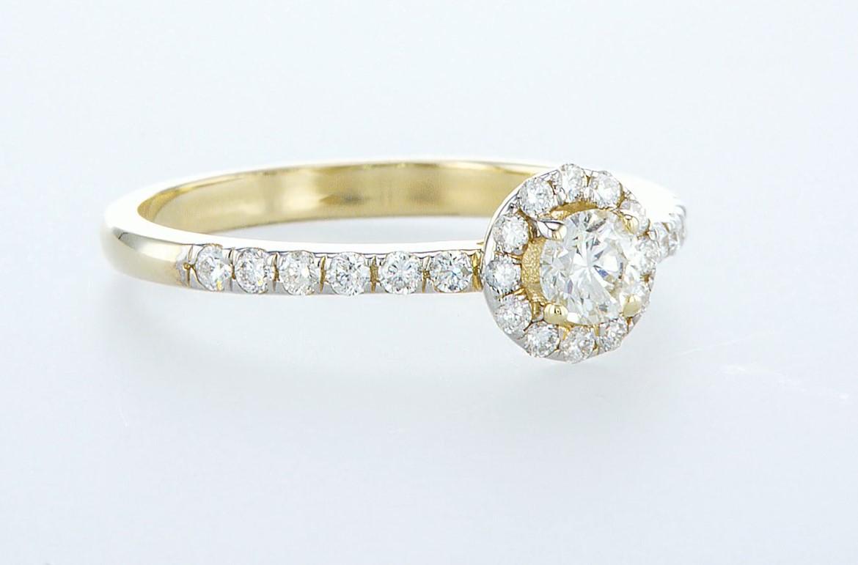 14 kt. Yellow gold - Ring - 0.61 ct Diamond - Diamonds - Image 5 of 6