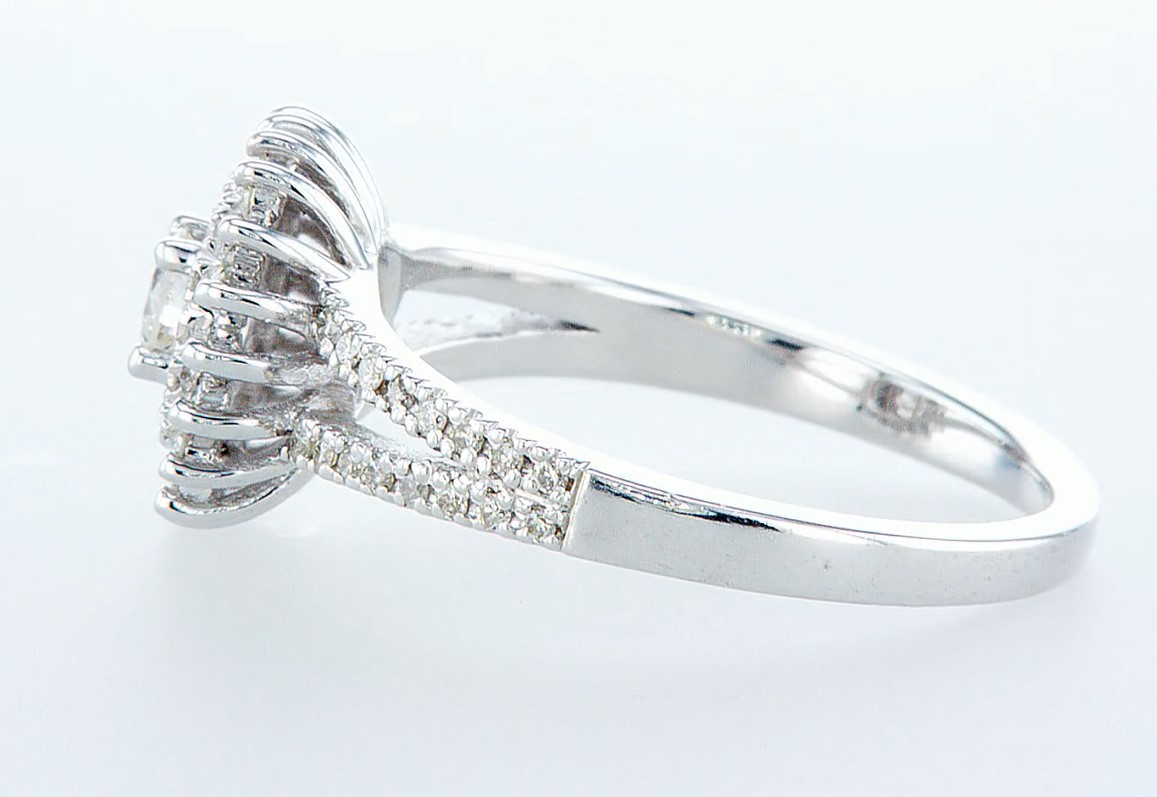 14 kt. White gold - Ring Diamond-0.71CTW - Image 4 of 6