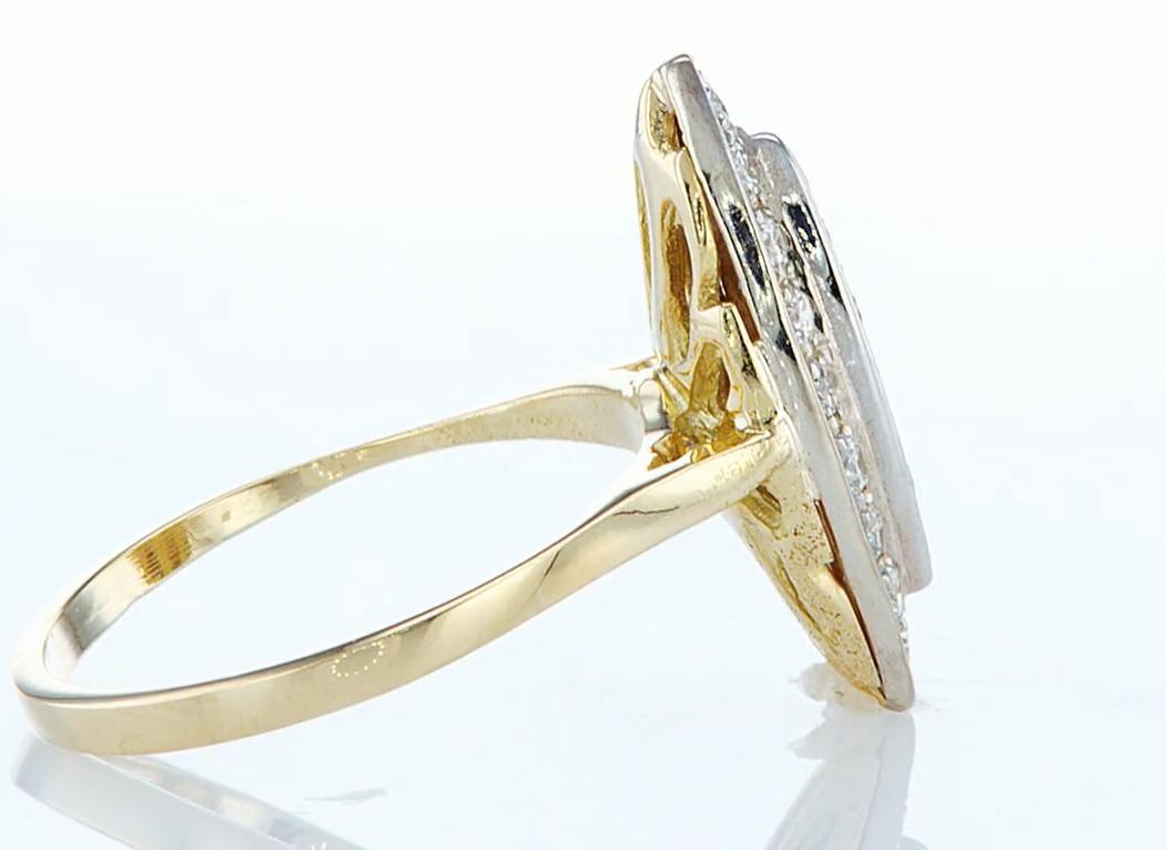 14 kt. Yellow gold - Ring - 0.46 ct Diamond - Diamonds - Image 6 of 7