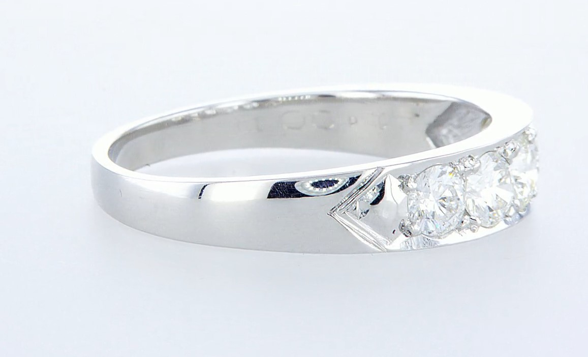 14 kt. White gold - Ring - 1.15 ct Diamond - Diamonds - Image 5 of 5