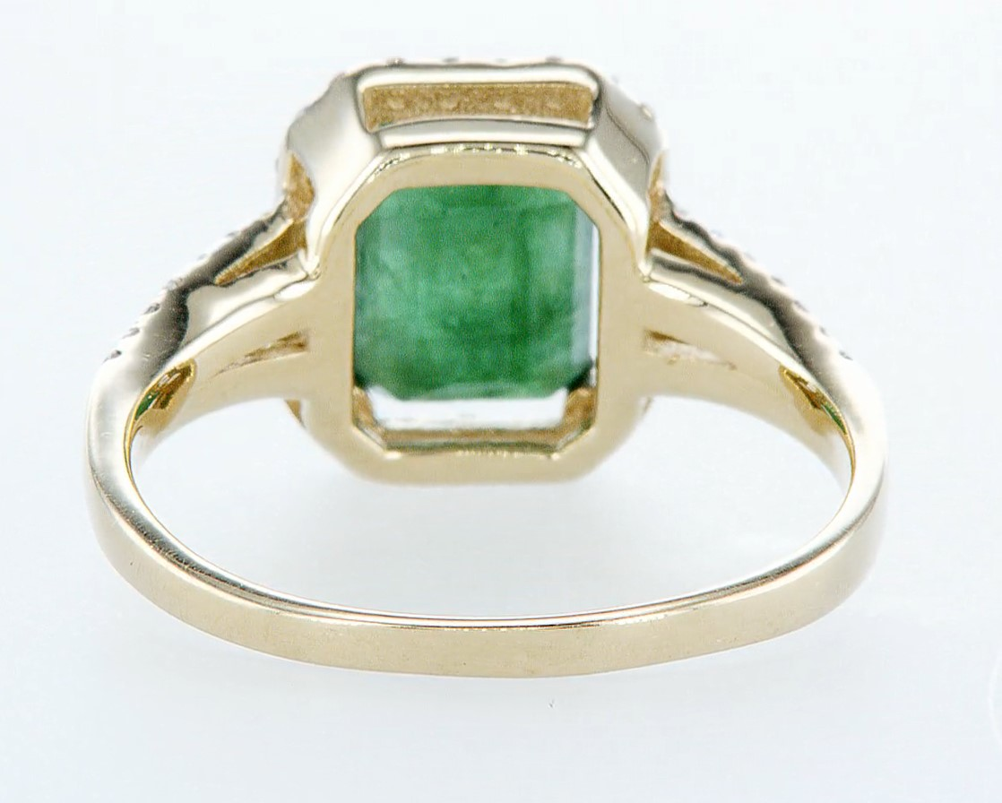 14 kt. White gold, Yellow gold - Ring - 2.01 ct Emerald - Diamonds - Image 5 of 7