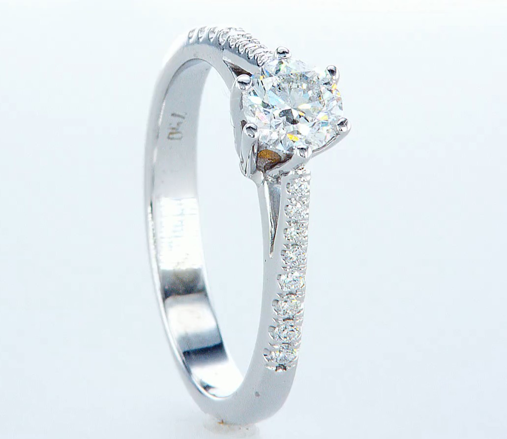 18 kt. White gold - Ring - 0.62 ct Diamond - Diamonds - Image 4 of 6