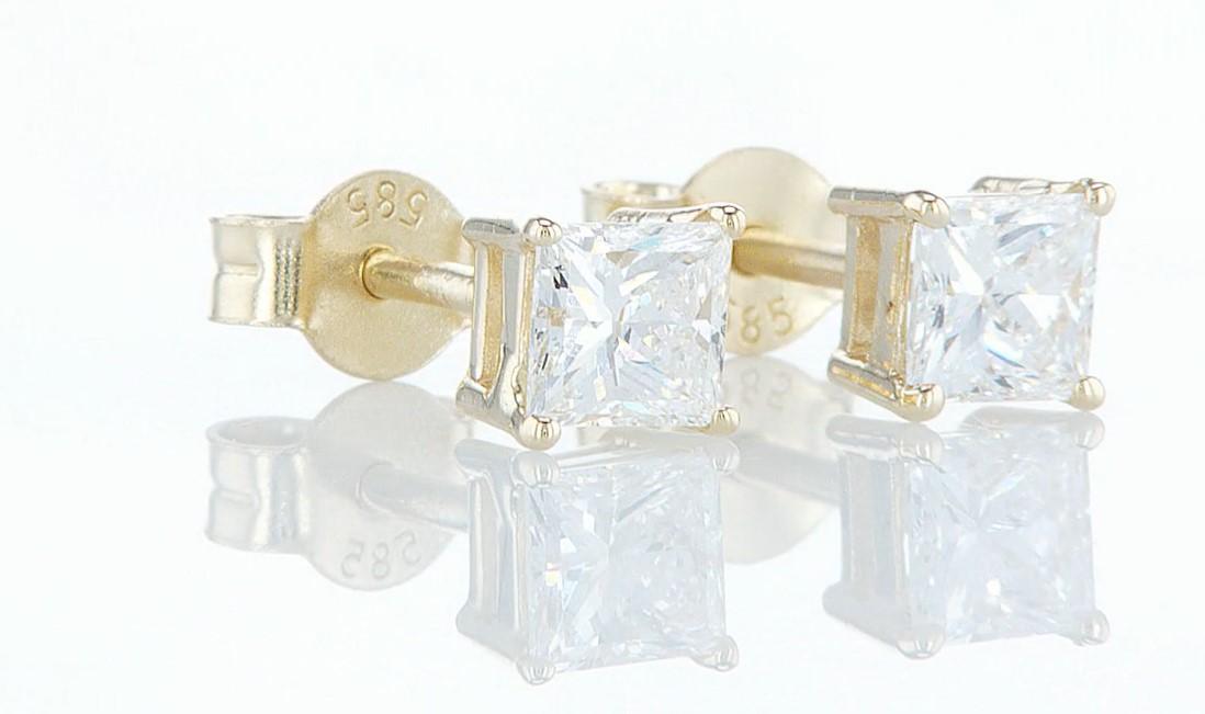 14 kt. Yellow gold - Earrings - 0.85 ct Diamond - Diamonds - Image 6 of 6