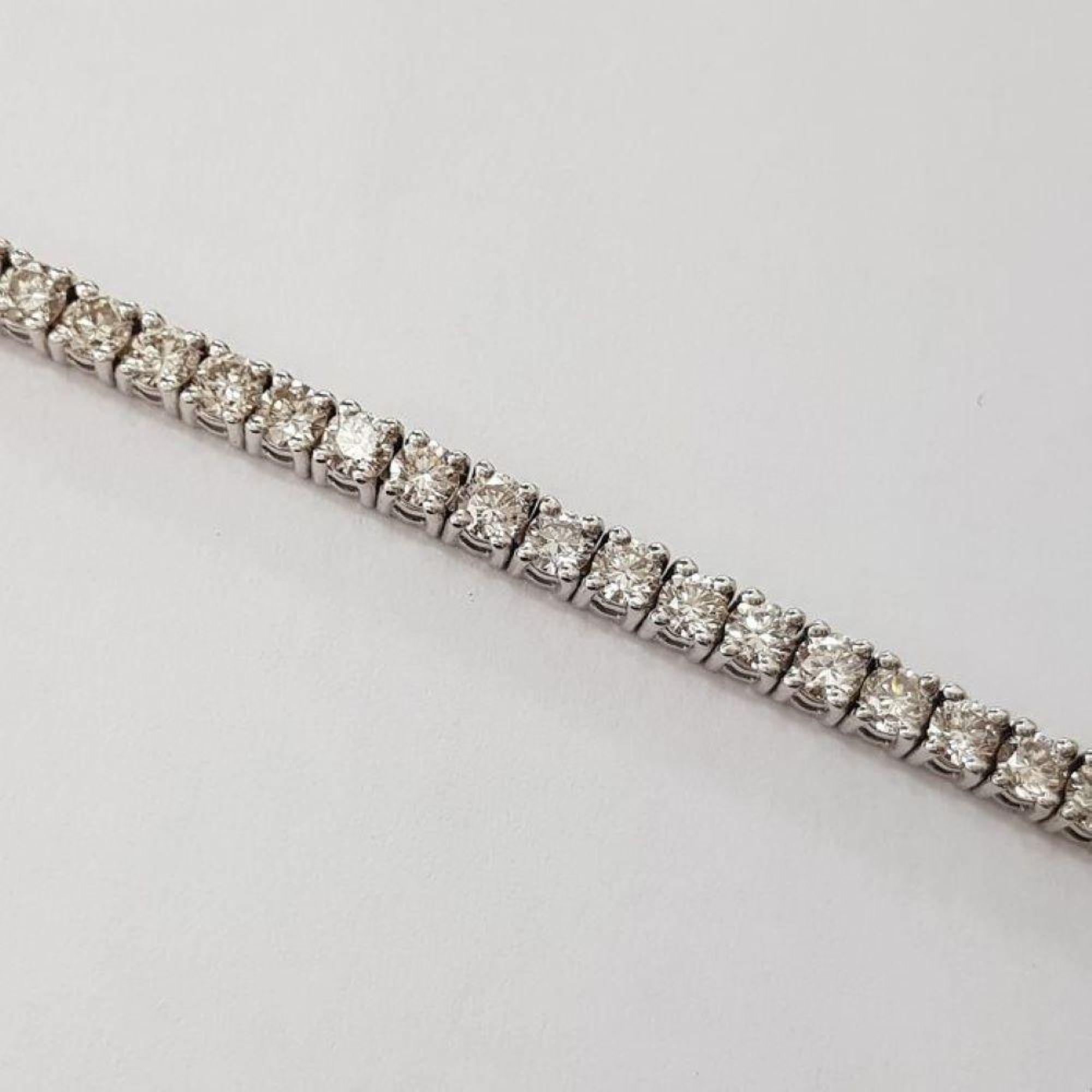 14 kt. White gold - Bracelet Diamond-1.68CTW - Image 3 of 4
