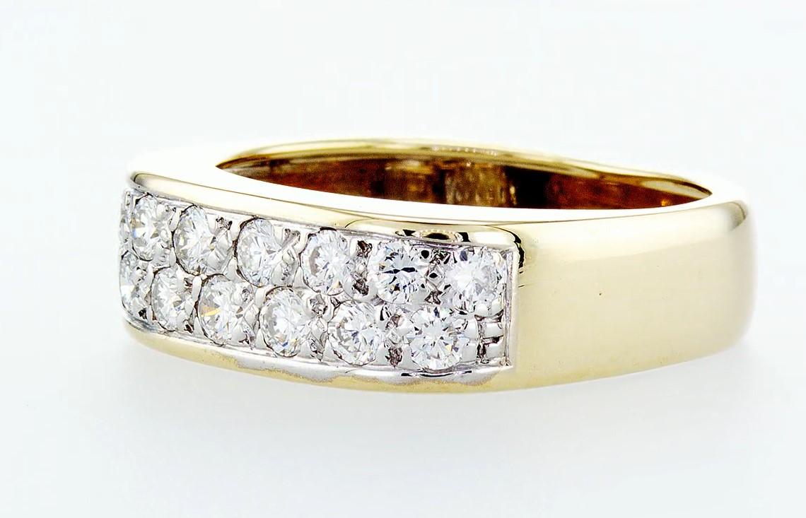 14 kt. White&Yellow gold - Ring Diamond-0.84CTW - Image 3 of 6