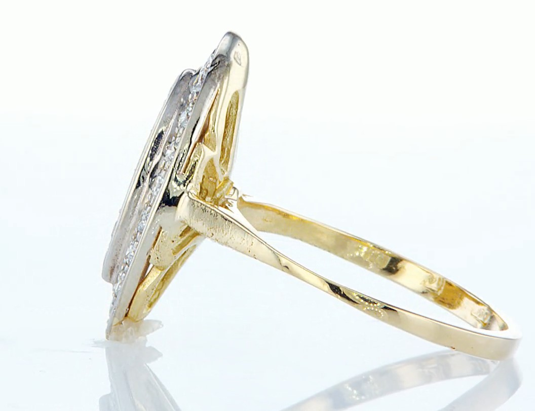 14 kt. Yellow gold - Ring - 0.46 ct Diamond - Diamonds - Image 4 of 7