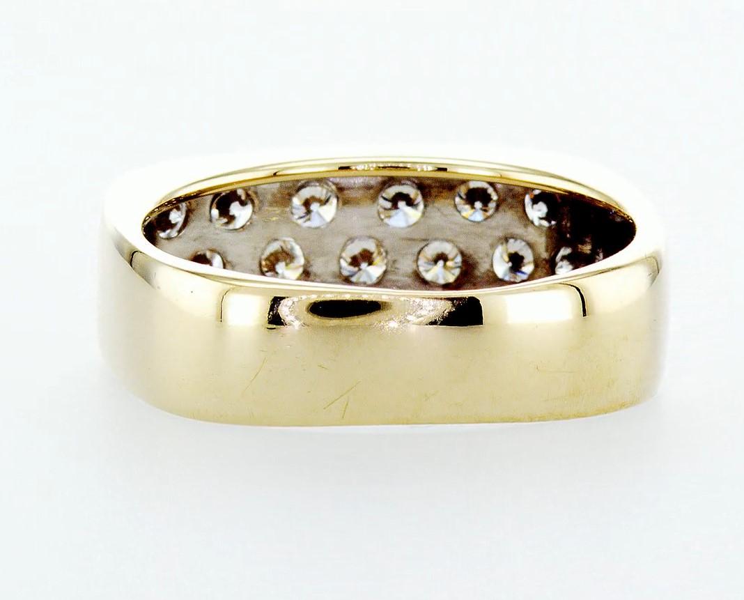 14 kt. White&Yellow gold - Ring Diamond-0.84CTW - Image 4 of 6