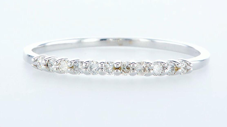 14 kt. White gold - Ring Diamond-0.22CTW