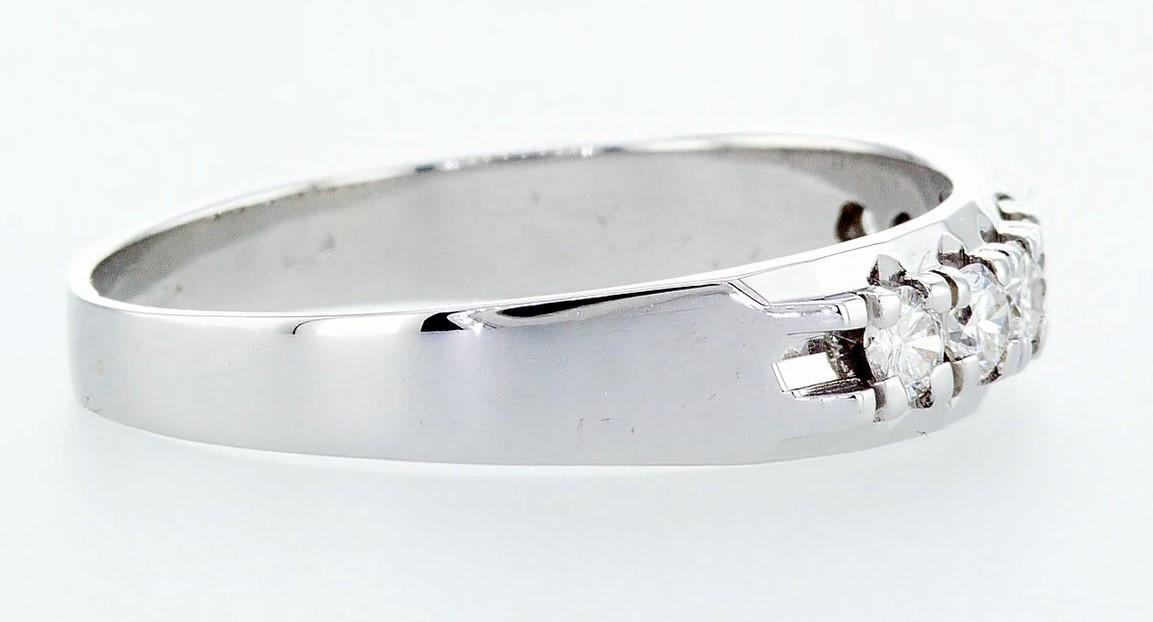 14 kt. White gold - Ring Diamond-0.49CTW - Image 6 of 6