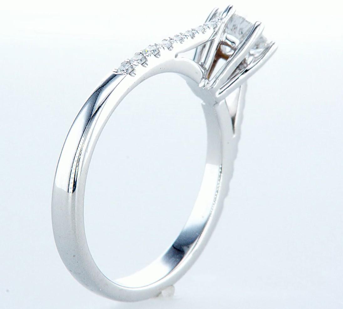 18 kt. White gold - Ring - 0.62 ct Diamond - Diamonds - Image 6 of 6