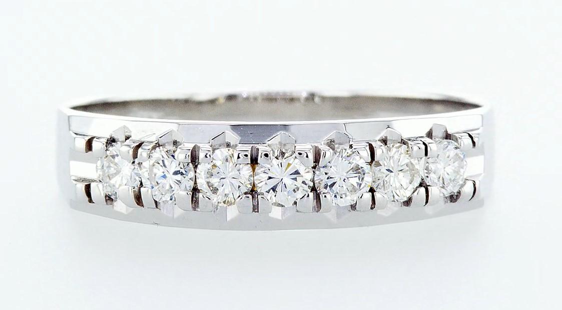 14 kt. White gold - Ring Diamond-0.49CTW