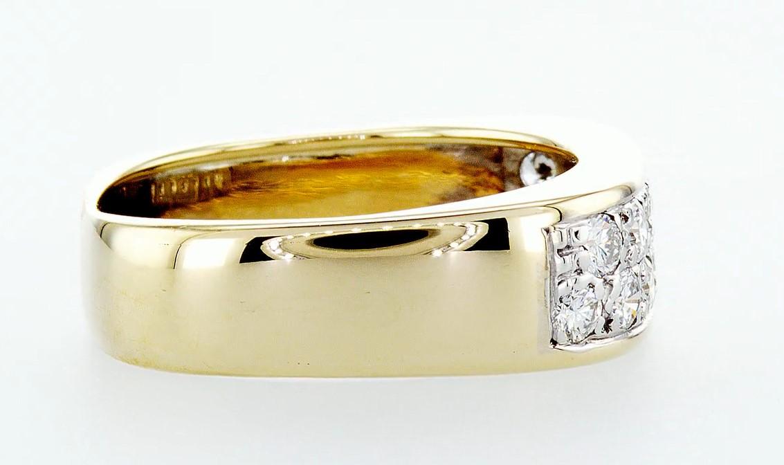 14 kt. White&Yellow gold - Ring Diamond-0.84CTW - Image 5 of 6