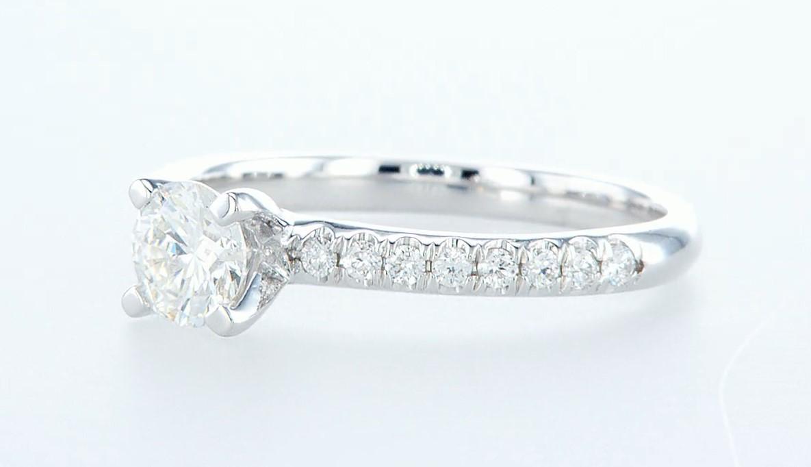 14 kt. White gold - Ring - 0.68 ct Diamond - Diamonds - Image 3 of 6