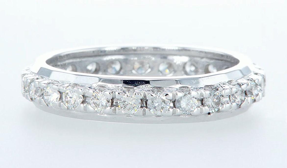 14 kt. White gold -Eternity Ring Diamond-1.00CTW - Image 3 of 4