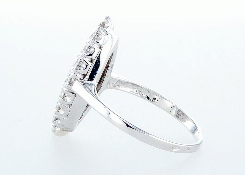 14 kt. White gold - Ring - 0.96 ct Diamond - Diamonds - Image 4 of 6