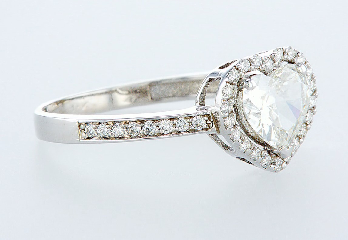 14 kt. White gold - Ring - 1.12 ct Diamond - Diamonds - Image 6 of 6