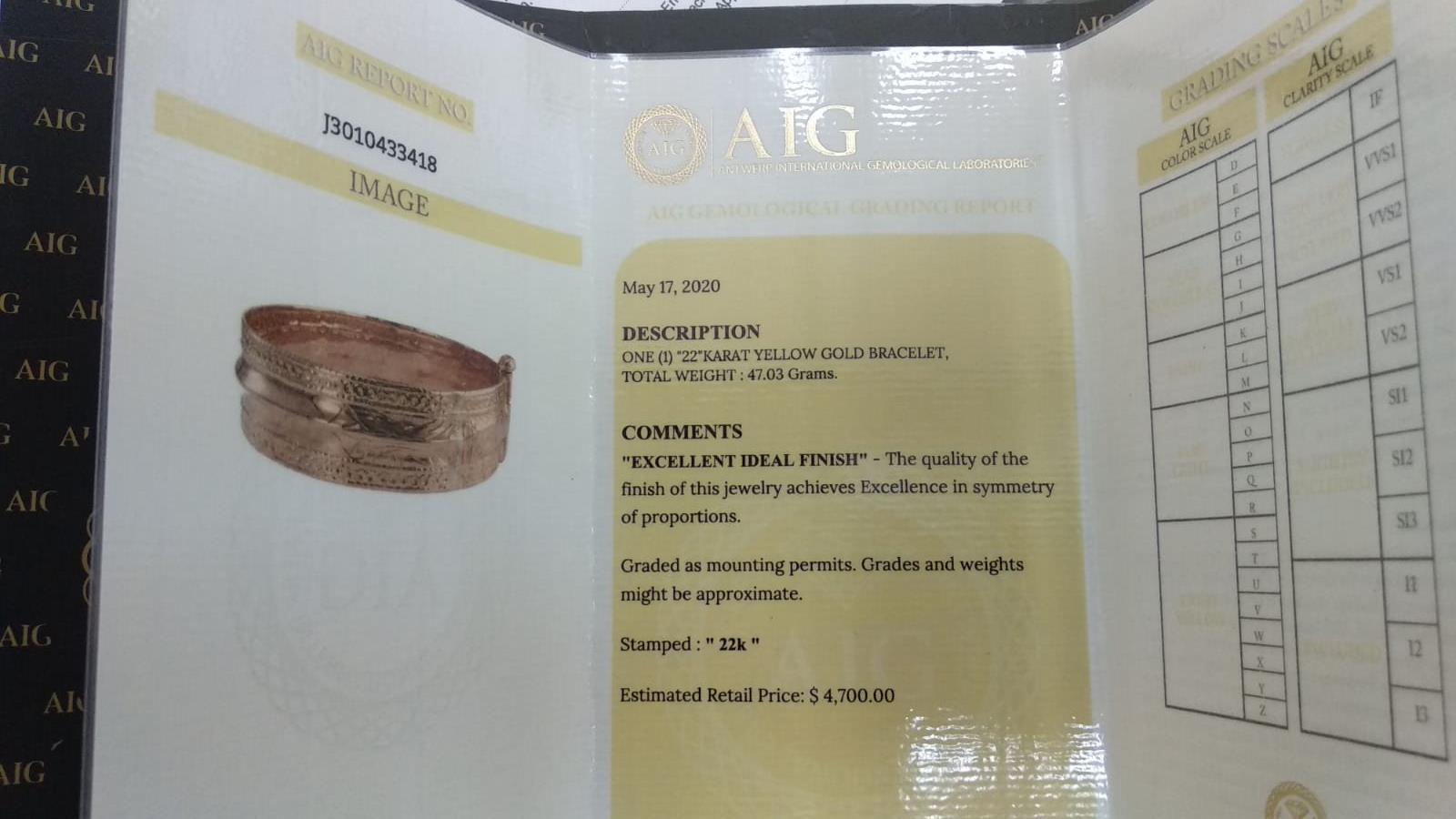 22 KT Yellow gold bracelet - Image 2 of 5